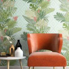 DPR; shutterstock photo #609007883; ON1628; orange chair; vases; flower; end table; books; rug