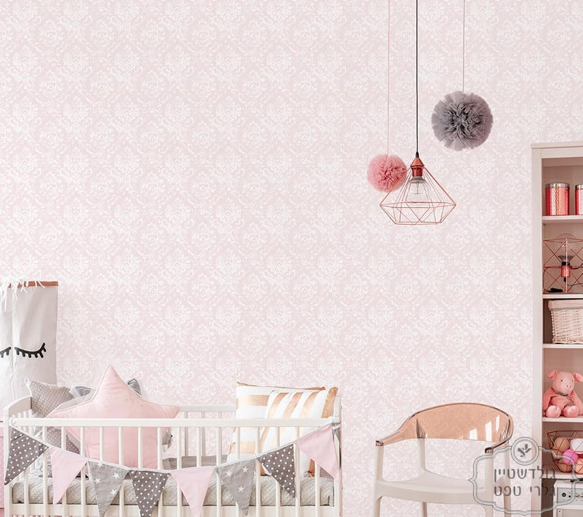 Scandinavian baby room with crib